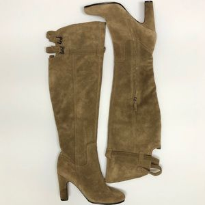 SAM EDELMAN 9 M Sutton Leather Over The Knee Boots
